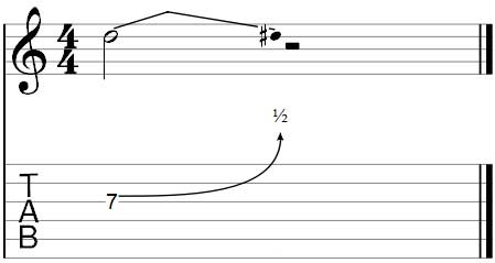 Half-step bend in Guitar Pro 7