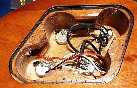 Electric guitar cavity