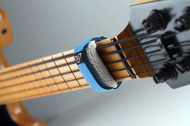 Guitar fretwrap on fretboard