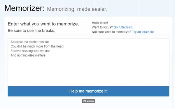 Song lyrics memorizer 1