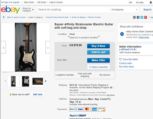 Squier for sale on eBay