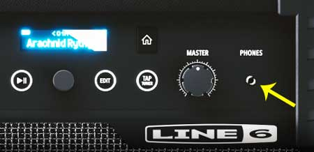 Line 6 Guitar amp headphones jack