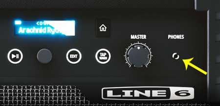 Line 6 Guitar amp headphones jack