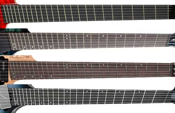 Comparing fanned frets