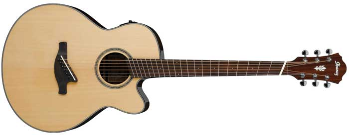 Fanned fret acoustic guitar