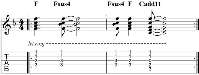 Free Fallin 12-String Guitar TAB