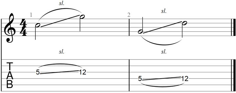 Guitar slide exercise 1