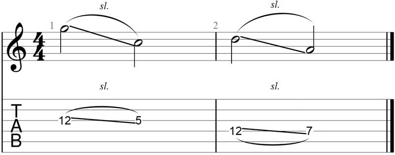 Guitar slide exercise 2