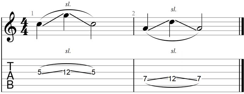 Guitar slide exercise 3