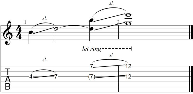 Guitar slide exercise 4