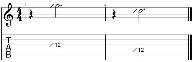 Guitar slide exercise 5