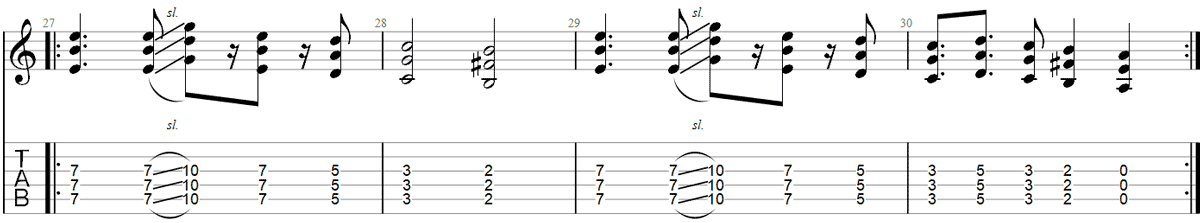 Seven nation army slide guitar TAB