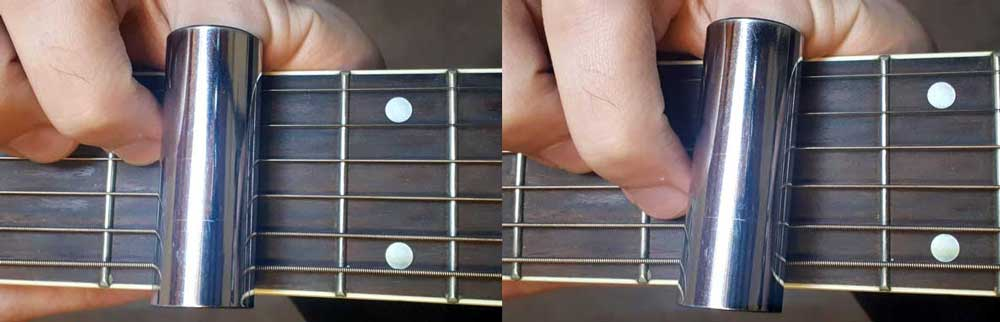 Straight and crooked guitar slide