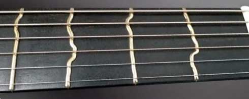 True Temperament frets closeup
