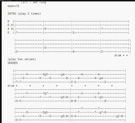 Ultimate Guitar Bass TAB