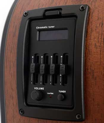 Acoustic guitar with EQ sliders