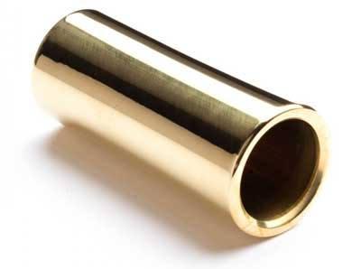 Brass guitar slide