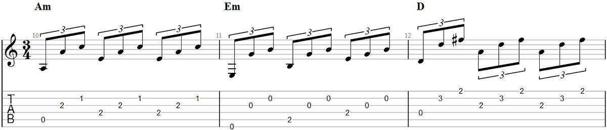 Guitar Fingerpicking Pattern 4