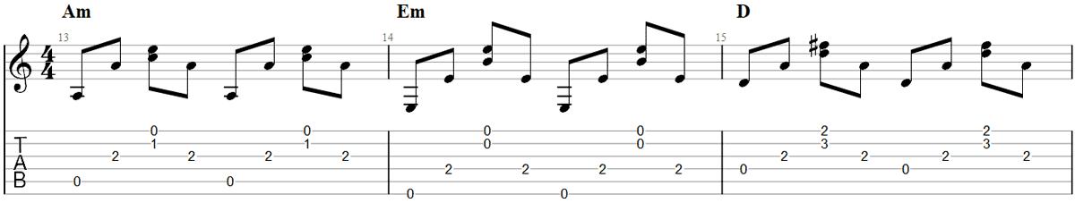 Guitar Fingerpicking Pattern 5