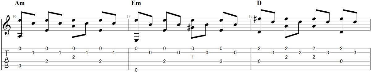 Guitar Fingerpicking Pattern 6