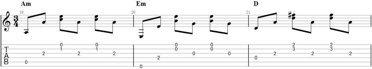 Guitar Fingerpicking Pattern 7