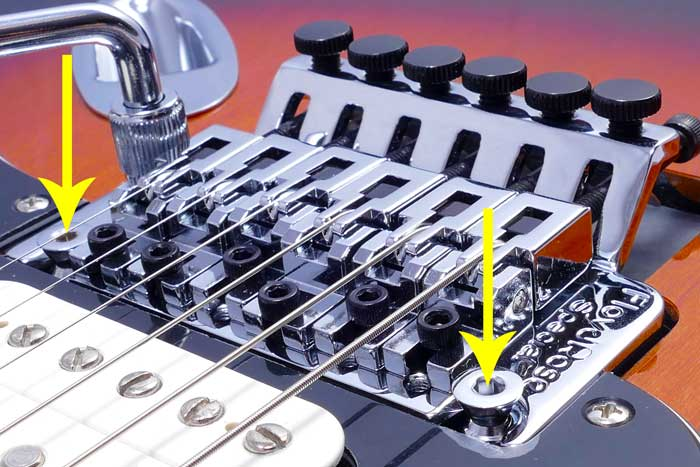 Floyd Rose bridge action