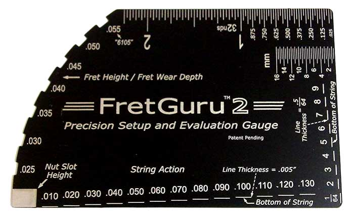 FretGuru 2 action gauge