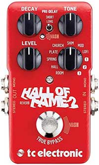 Hall of Fame 2 Reverb pedal for acoustic guitar