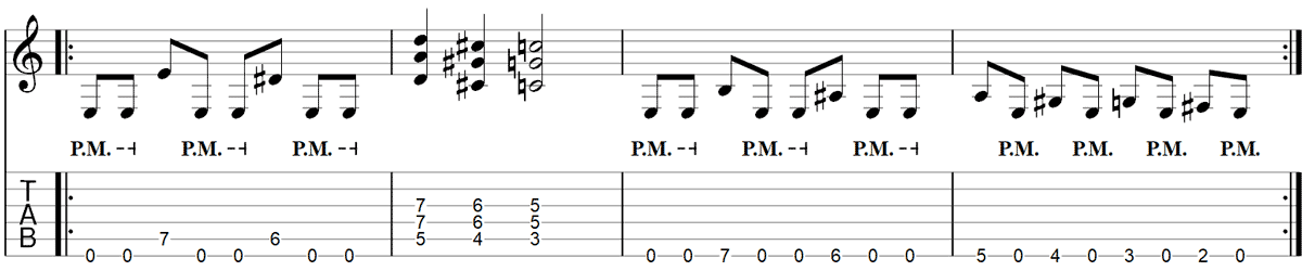 Master of Puppets Riff Guitar TAB