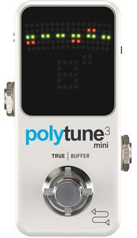 Polytune 3 Mini tuner pedal for acoustic guitar
