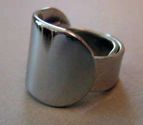Ring guitar slide