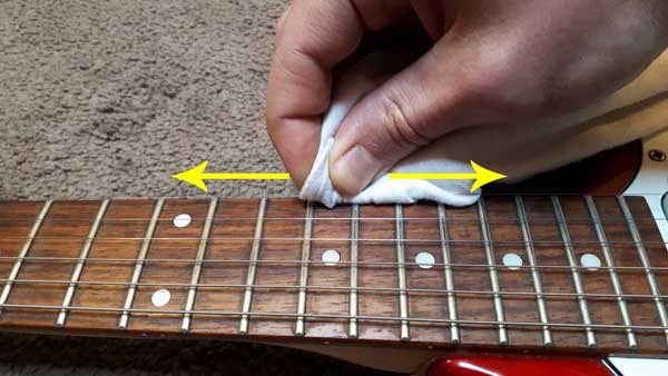 Clean guitar string 2