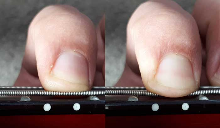 Finger pressure intonation