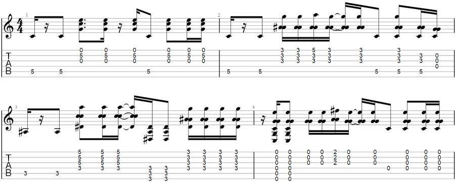 Burden In My Hand Guitar TAB in Open C Tuning
