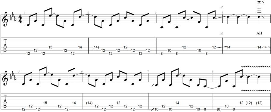 Deadhead Guitar TAB in Open C Tuning