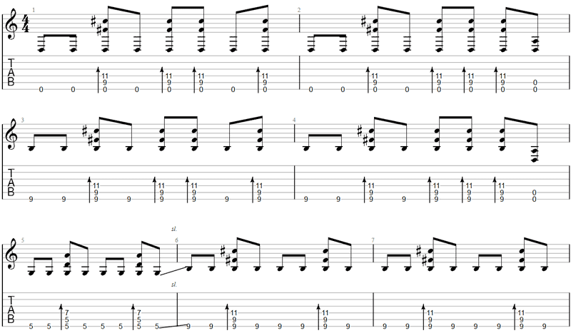 Everlong Drop D Guitar TAB