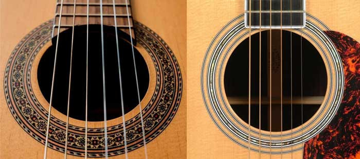 Nylon vs Steel String Acoustic Guitars