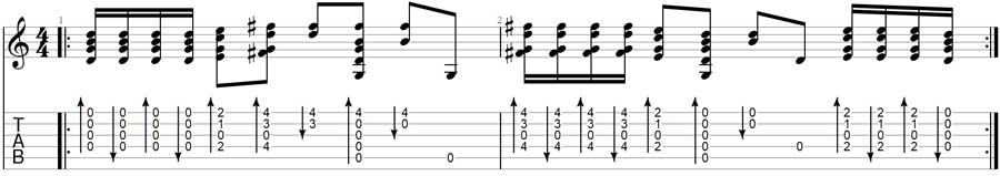 That's the Way Guitar TAB in Open G