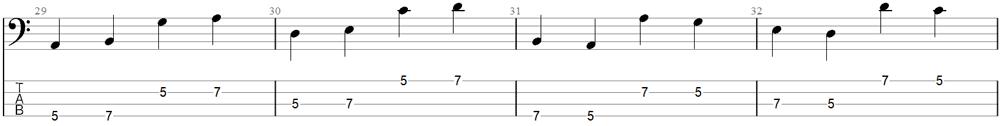 Bass Exercise 6a