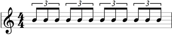 Eighth note triplets