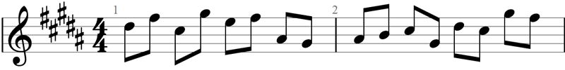 Key signature example 1