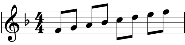 Key signature example 2