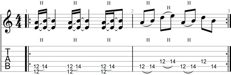 Paranoid guitar riff TAB 1