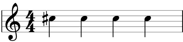 Repeated sharp notes