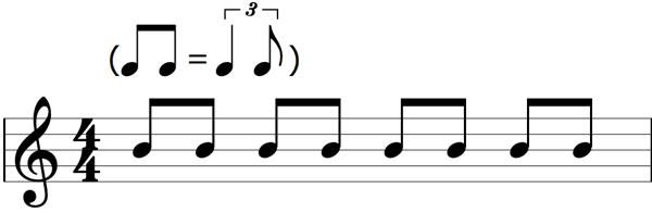 Shuffle feel sheet music
