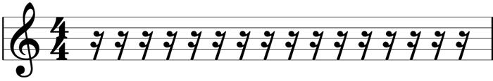 Sixteenth rest symbol