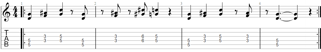 Smoke on the water guitar riff 2 TAB