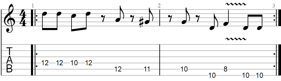 Sunshine of your love guitar riff TAB 1