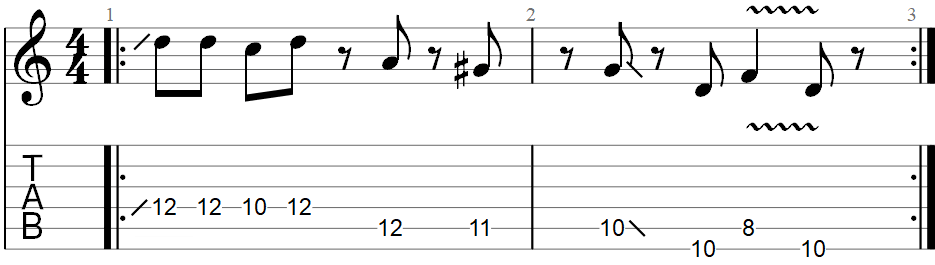 Sunshine of your love guitar riff TAB 2