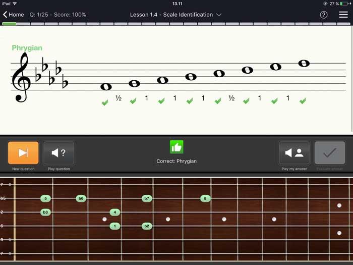 EarMaster app Scales